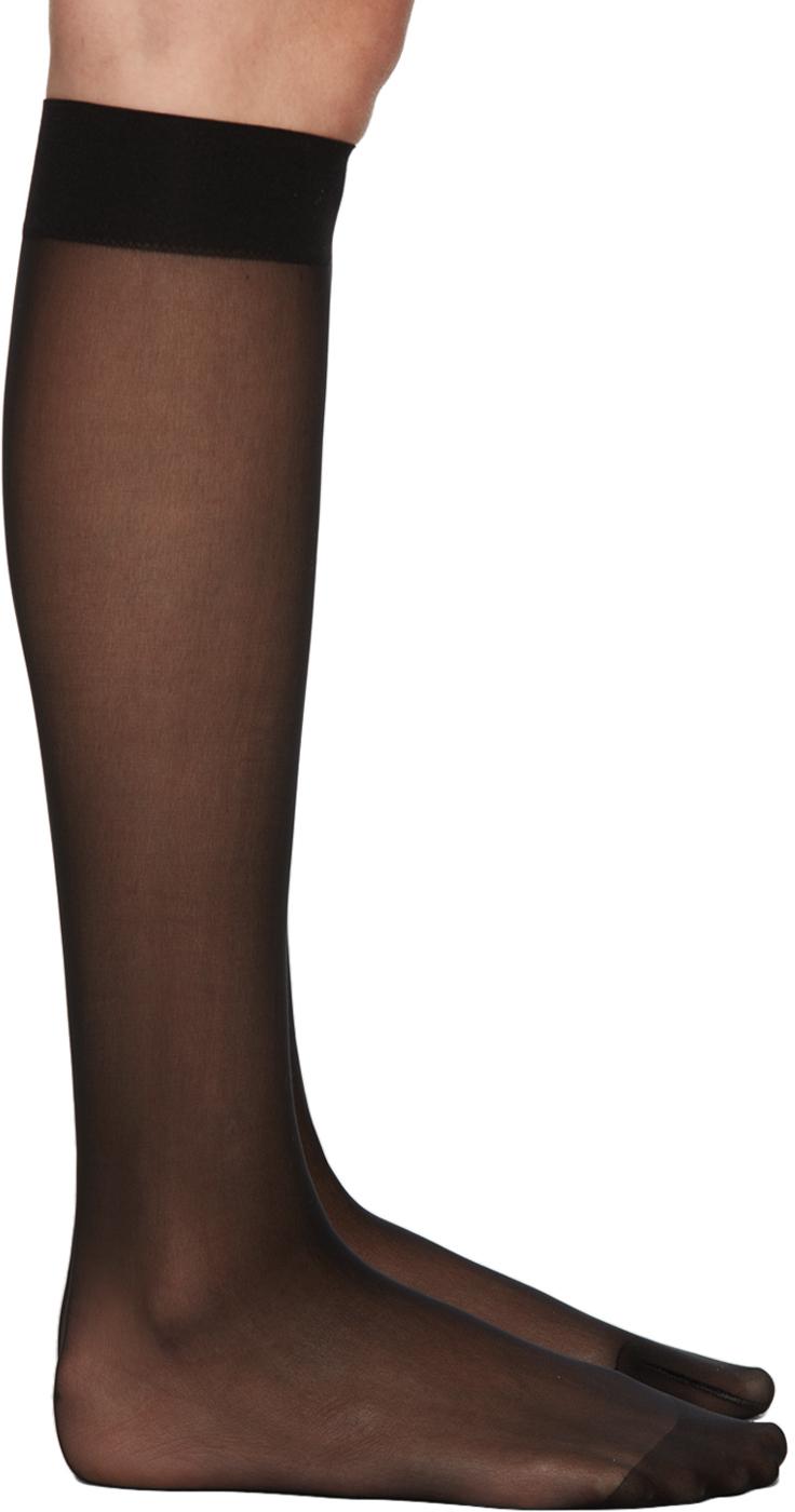 Black Individual 10 Knee-High Socks