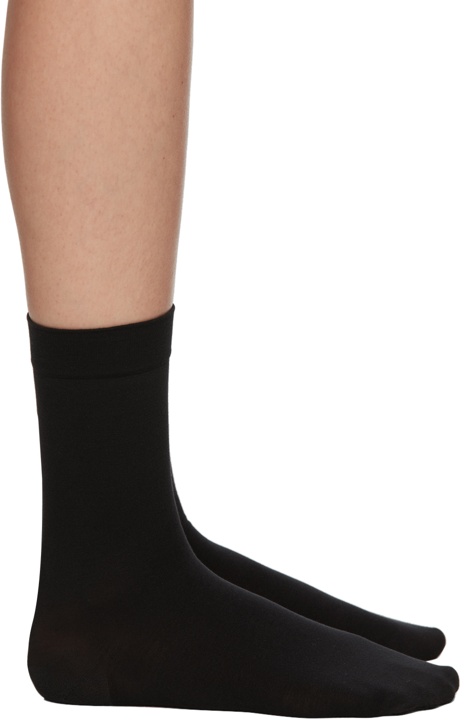 Black Cotton 80 Socks