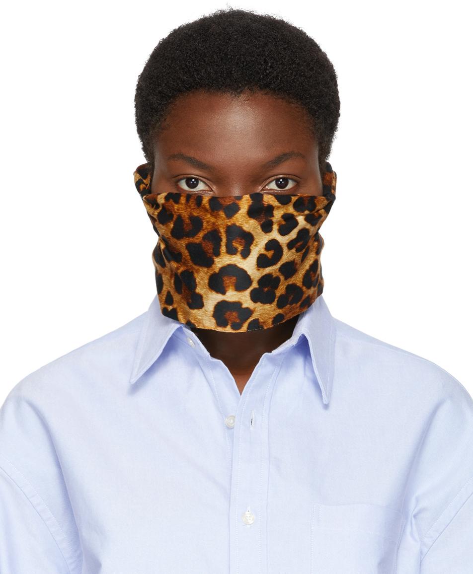R13 黄褐色豹纹口罩