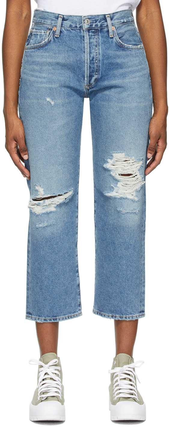 Blue Emery Crop Jeans
