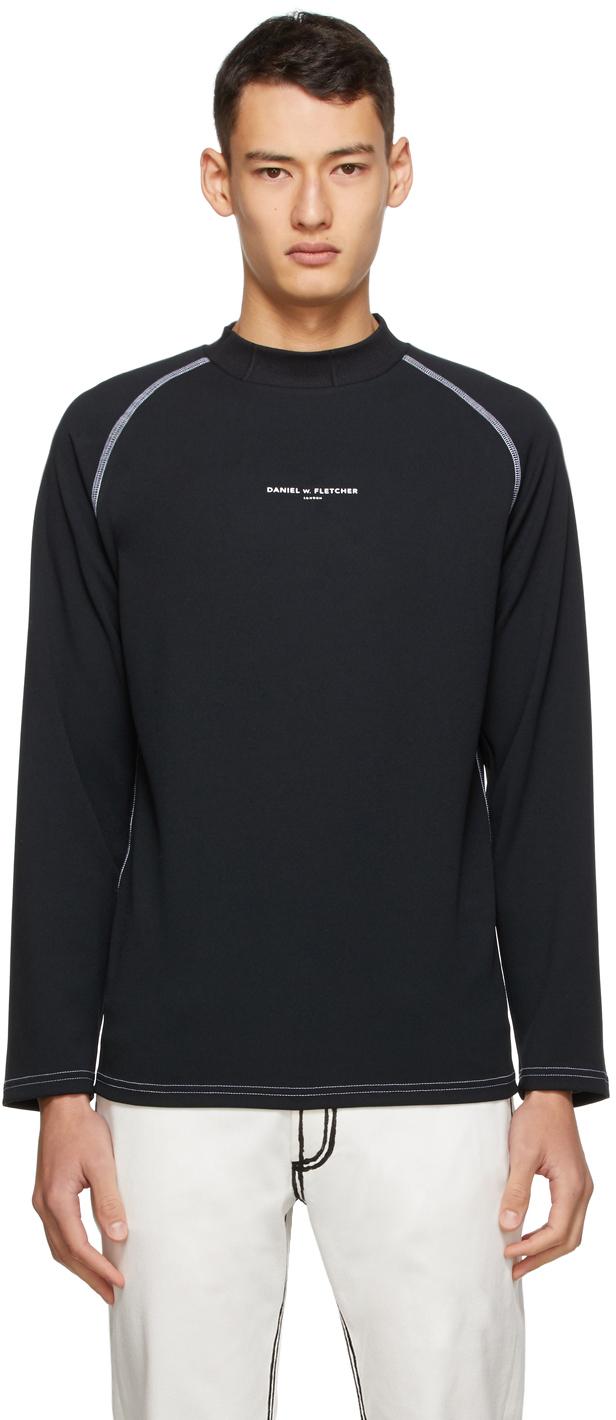 Daniel W. Fletcher SSENSE 独家发售黑色徽标套头衫