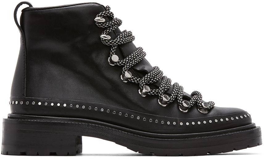 Rag & Bone 黑色 Compass II 踝靴