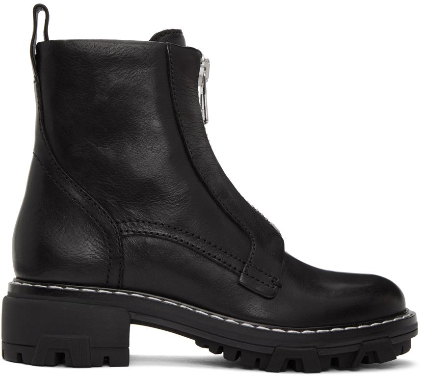 Rag & Bone 黑色 Shiloh 拉链踝靴