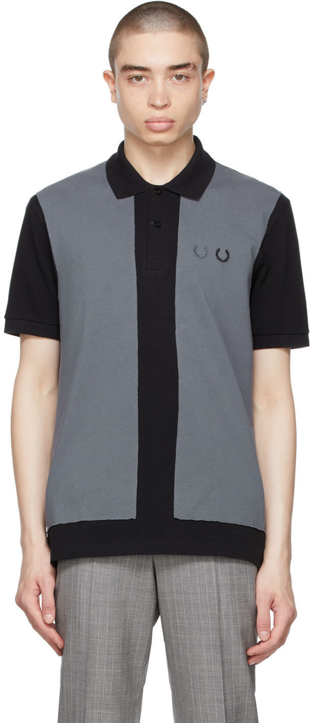 Black & Grey Fred Perry Edition Colorblocked Polo