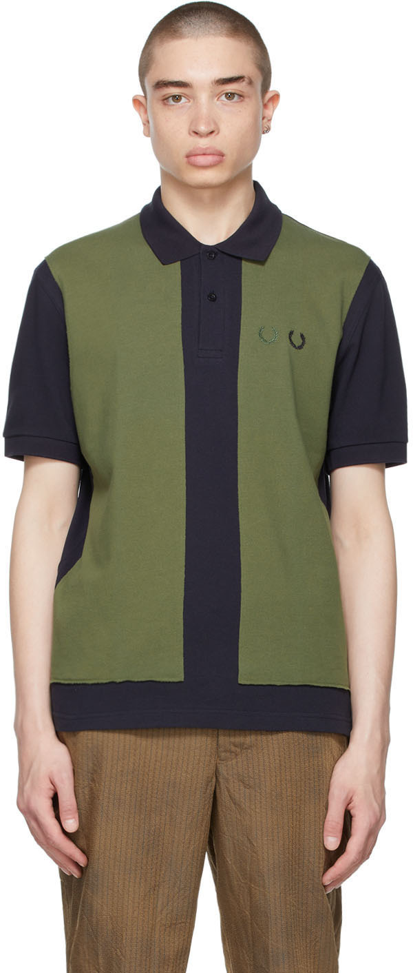 Navy & Khaki Fred Perry Edition Colorblocked Polo