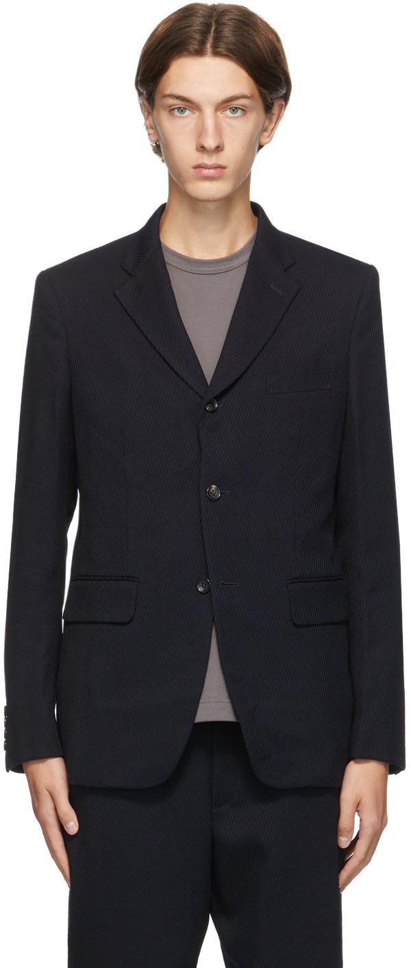 Navy Wool Twill Blazer