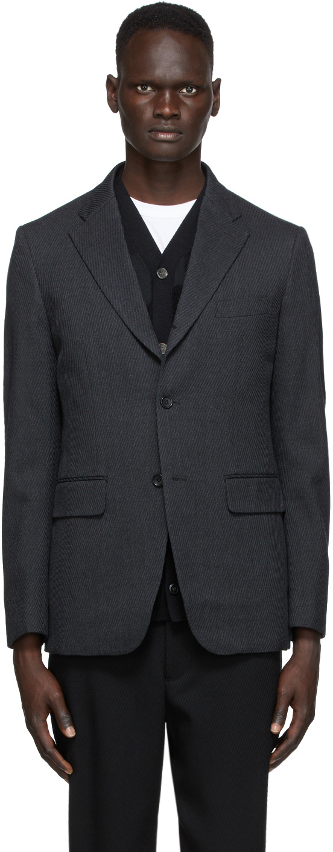 Grey Wool Twill Blazer