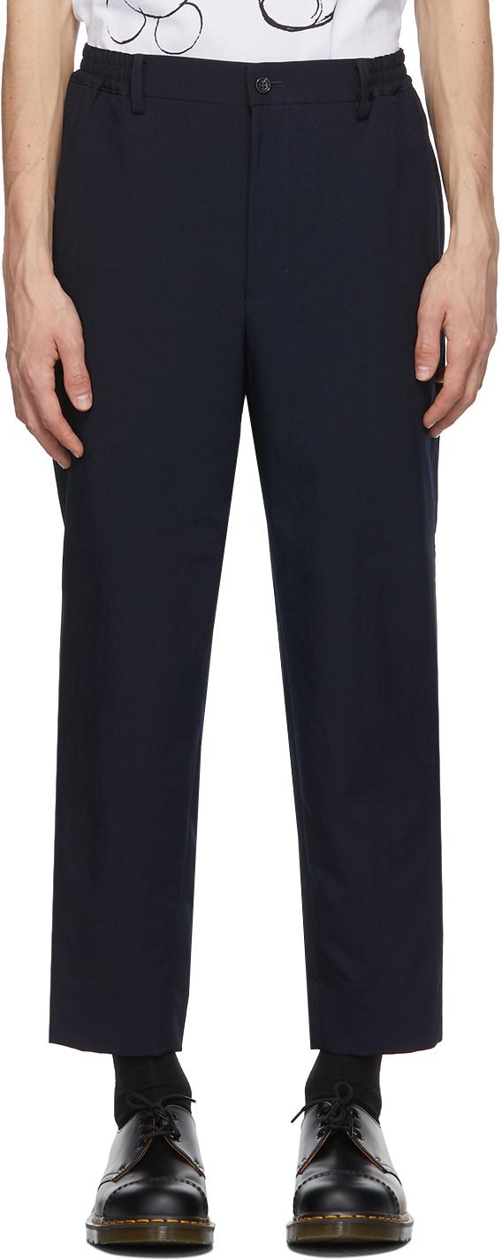 Navy Gabardine Trousers