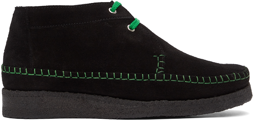 Black & Green Padmore & Barnes Edition Willow Boots