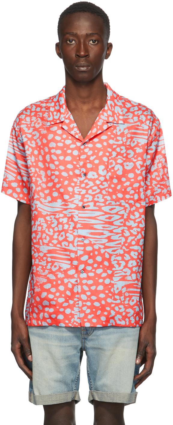 Red Liger Hawaiian Short Sleeve Shirt