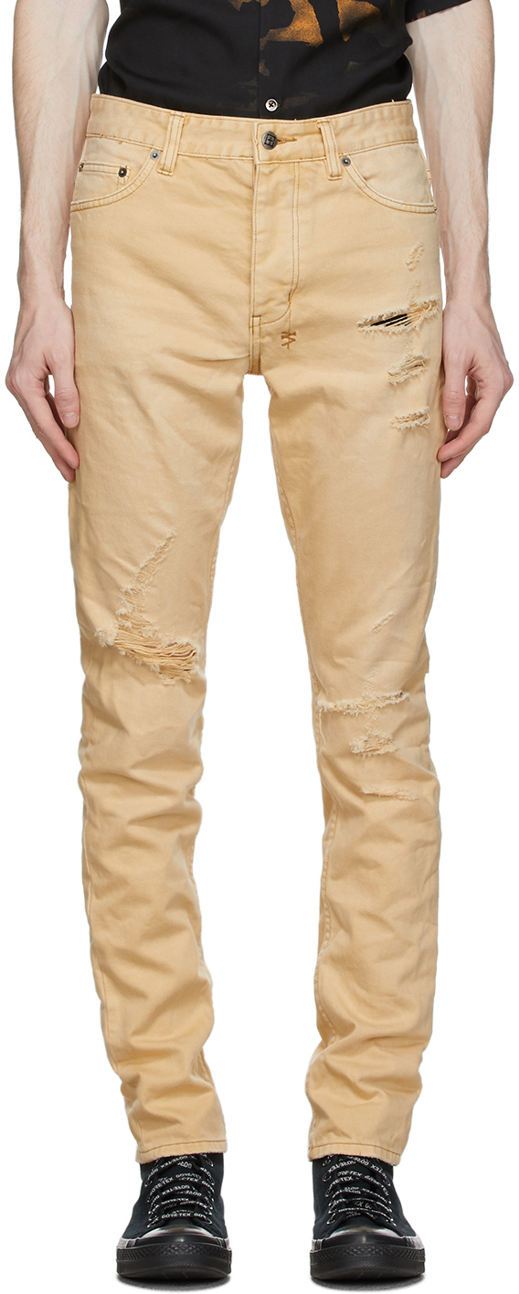 Ksubi 黄褐色 Chitch Trashed 牛仔裤