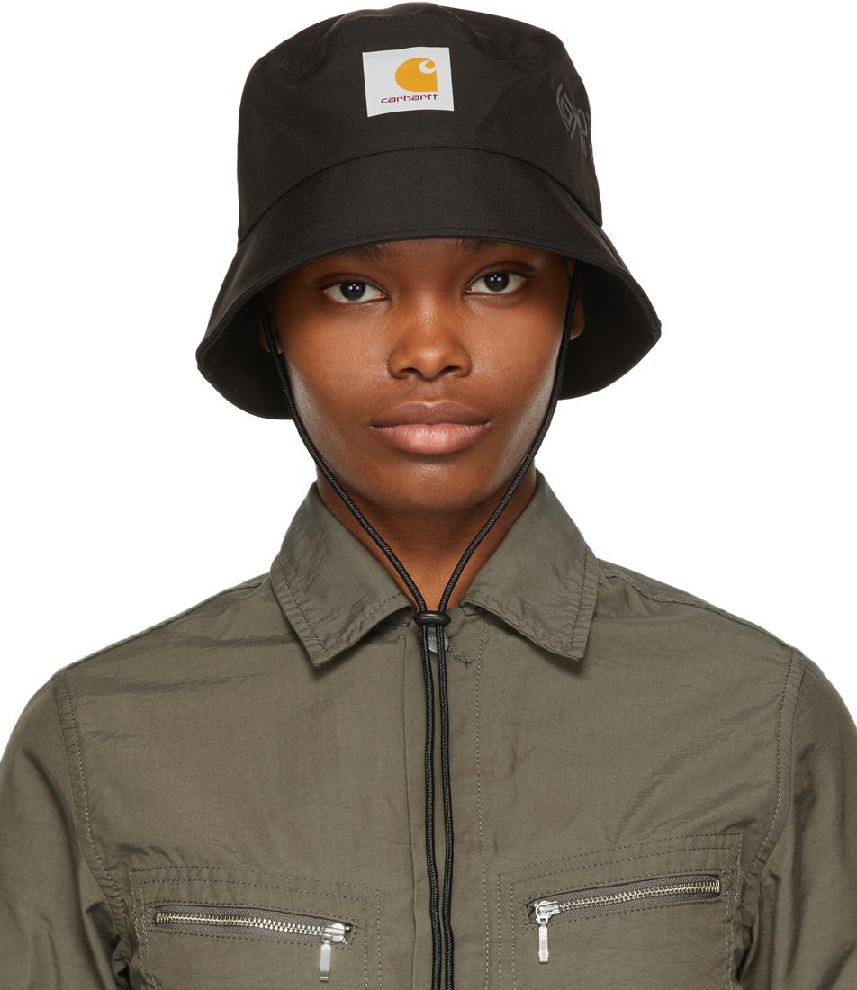 Black Gore-Tex® Infinium™ Line Bucket Hat