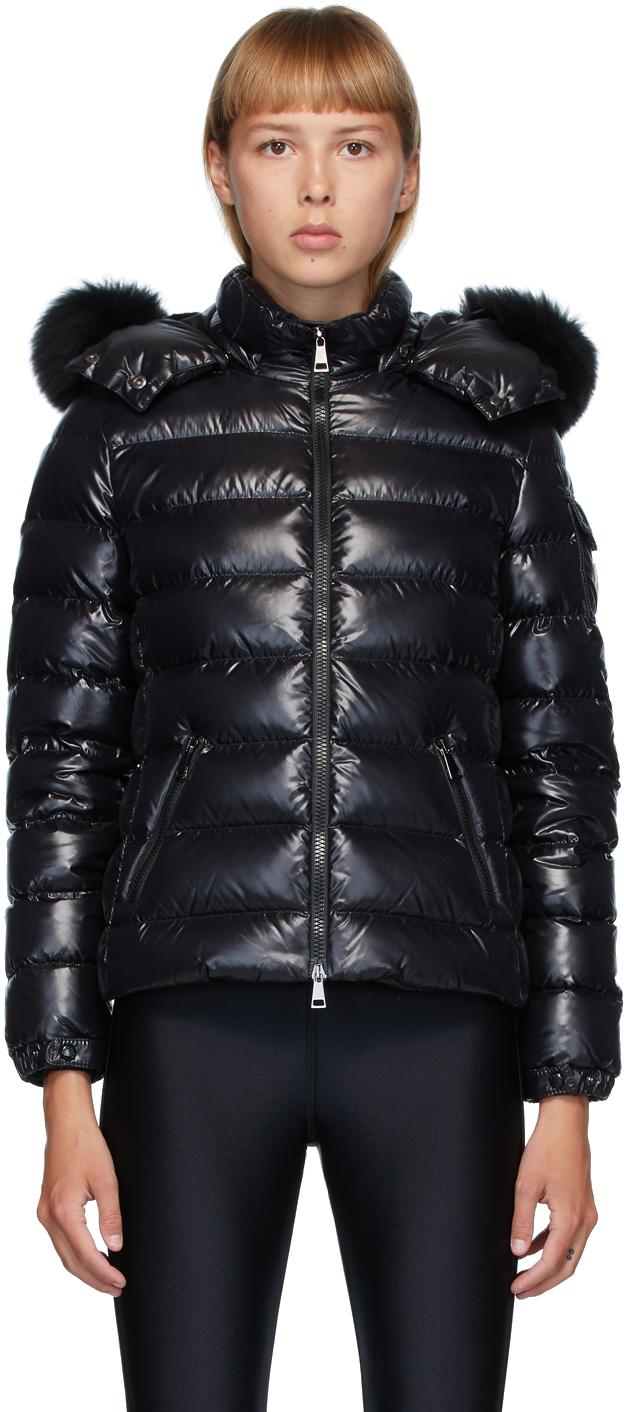 Moncler Black Down Badyfur Jacket