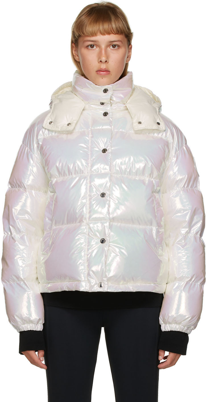 Moncler White Down Iridescent Daos Jacket