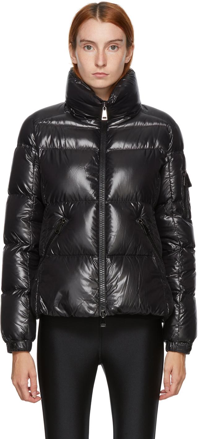 Moncler Black Down Shiny Moyade Jacket