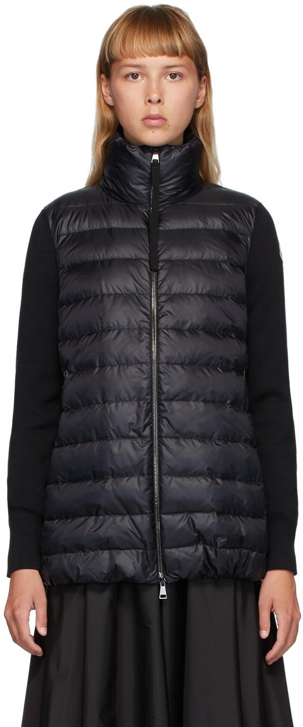 Moncler Black Down Panelled Jacket