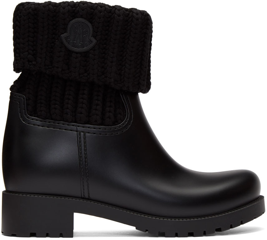 Black Knit Ginette Boots