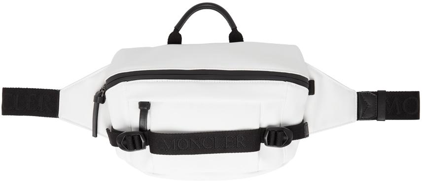 White Nylon Belt Bag