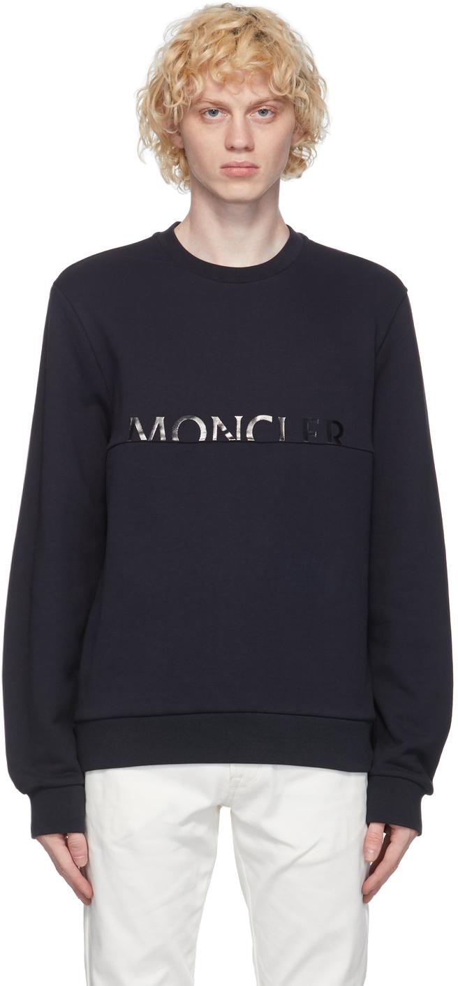 Moncler 海军蓝徽标套头衫
