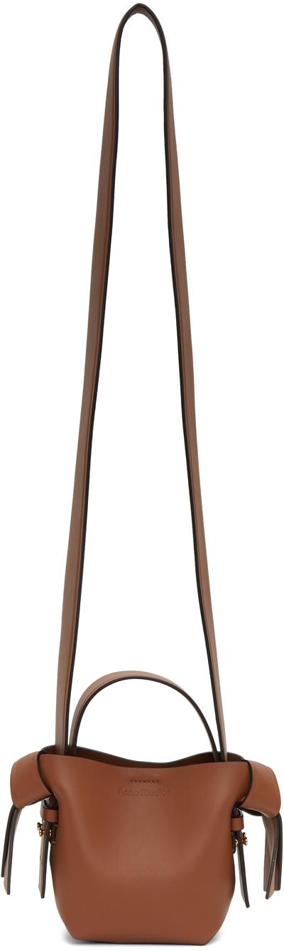 Acne Studios Brown Musubi Micro Bag 202129F048073