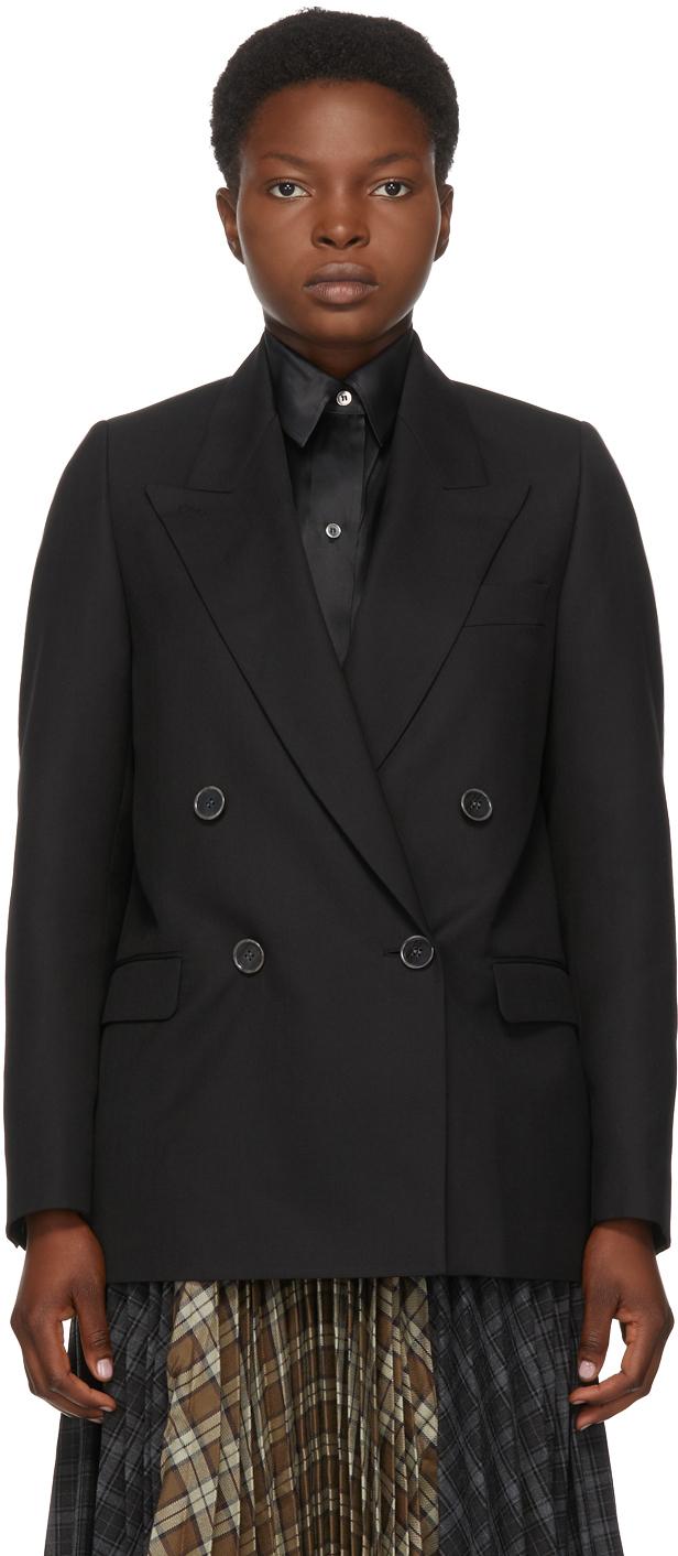 Acne Studios Black Double Breasted Blazer 202129F057298