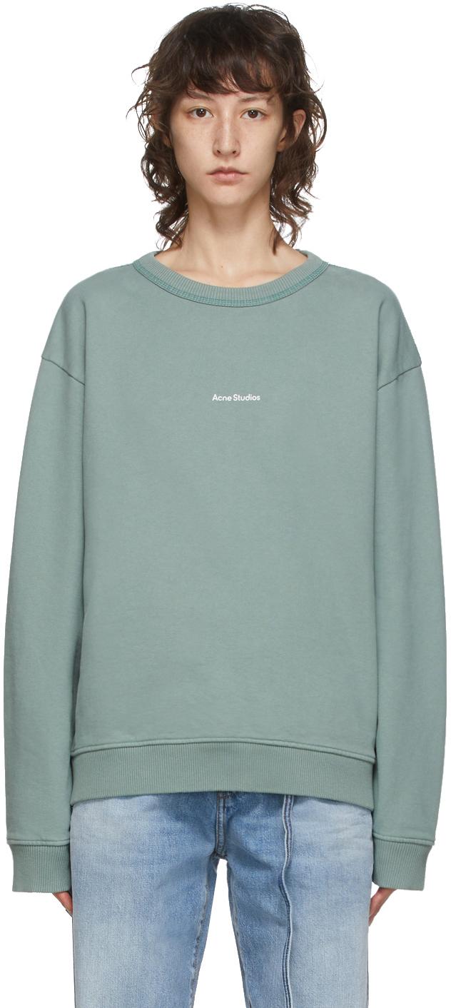 Acne Studios Green Logo Print Sweatshirt 202129F098039
