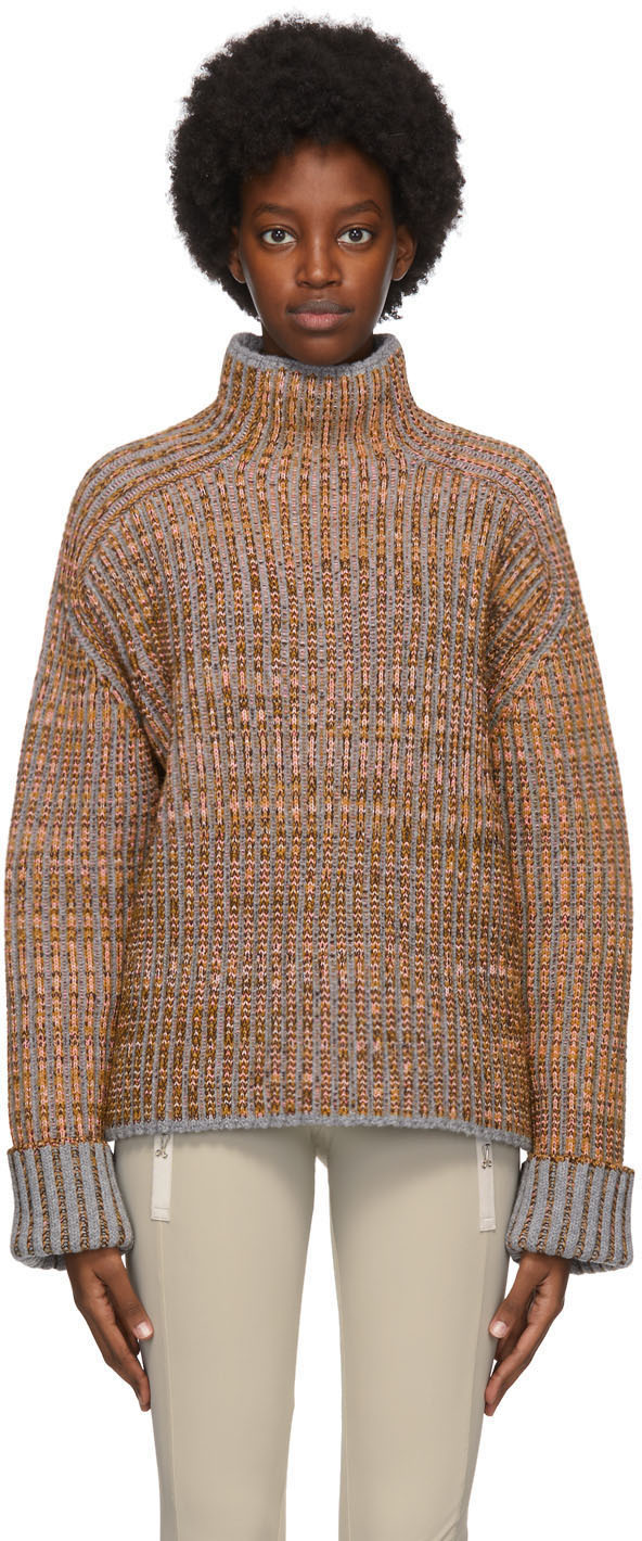 Acne Studios Multicolor Wool Rib Knit Sweater 202129F099202