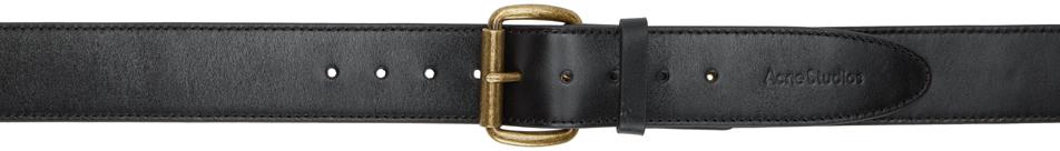 Acne Studios Black Leather Belt 202129M131421