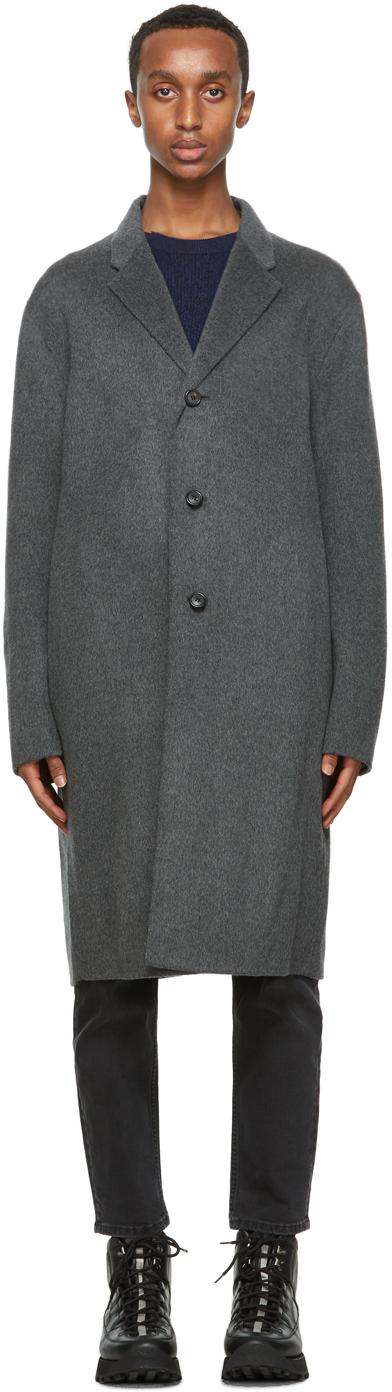 Acne Studios Grey Wool Coat 202129M176004