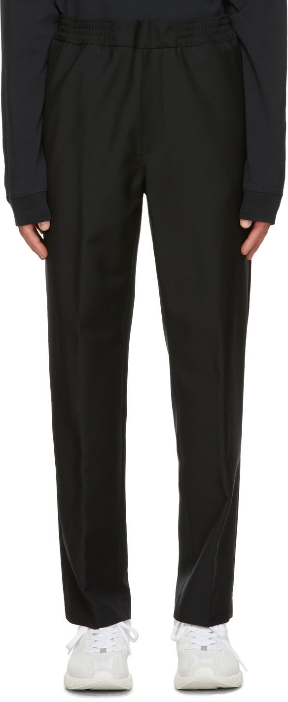 Acne Studios Black Wool Mohair Elastic Waist Trousers 202129M191080