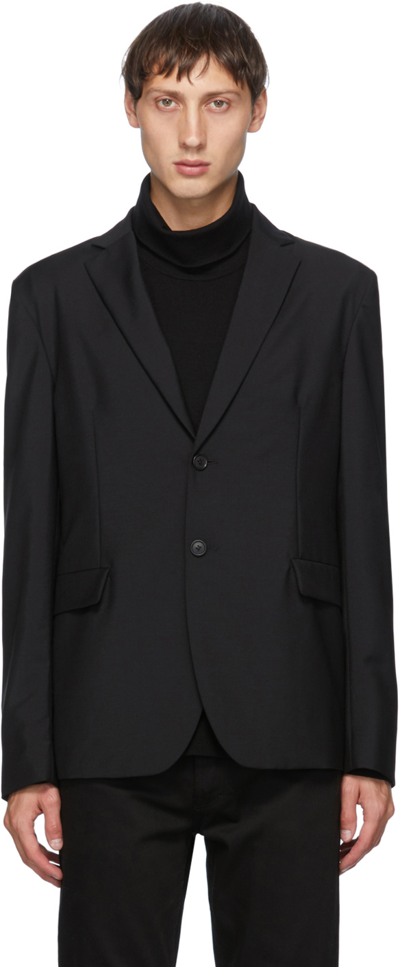 Acne Studios Black Single Breasted Blazer 202129M195131