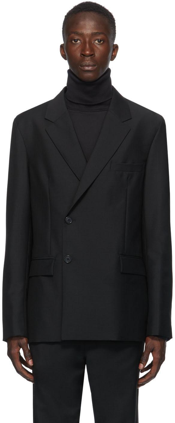 Acne Studios Black Double Breasted Blazer 202129M195135
