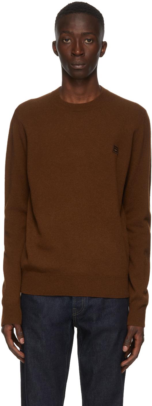 Acne Studios Brown Wool Crewneck Sweater 202129M201016