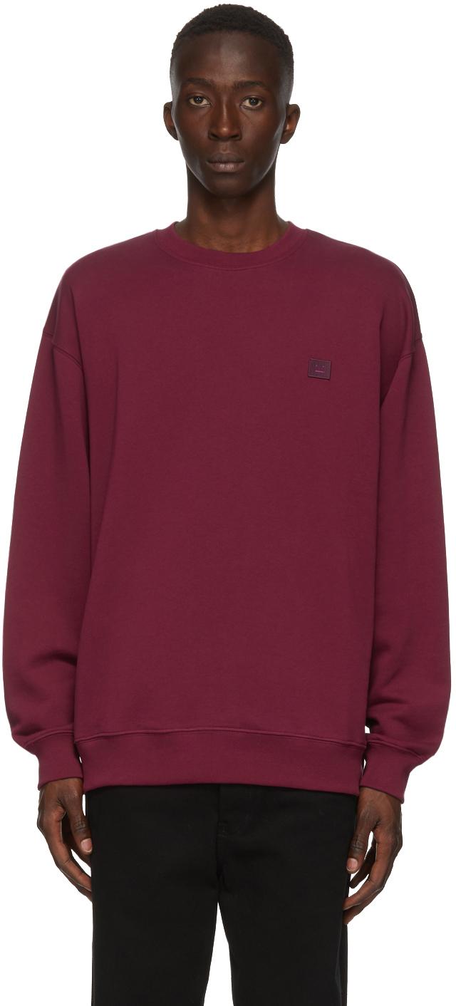Acne Studios Burgundy Oversized Sweatshirt 202129M204020