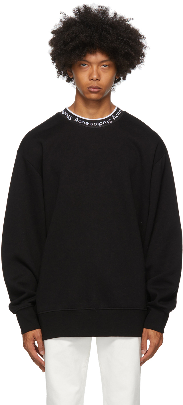 Acne Studios Black Jacquard Logo Sweatshirt 202129M204032
