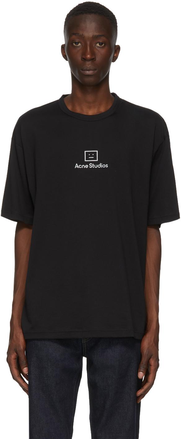 Acne Studios Black Reflective Patch Motif T Shirt 202129M213032