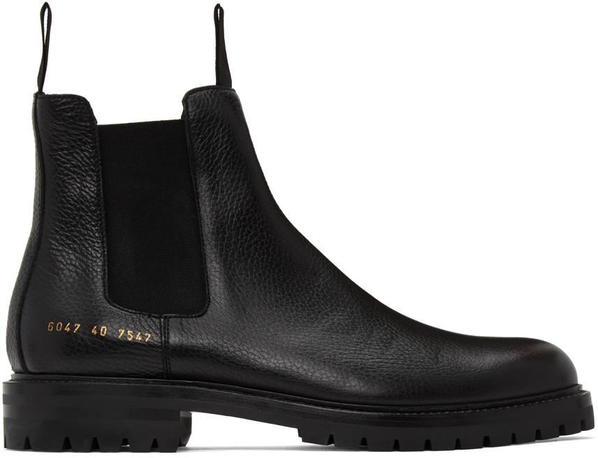Black Winter Chelsea Boots