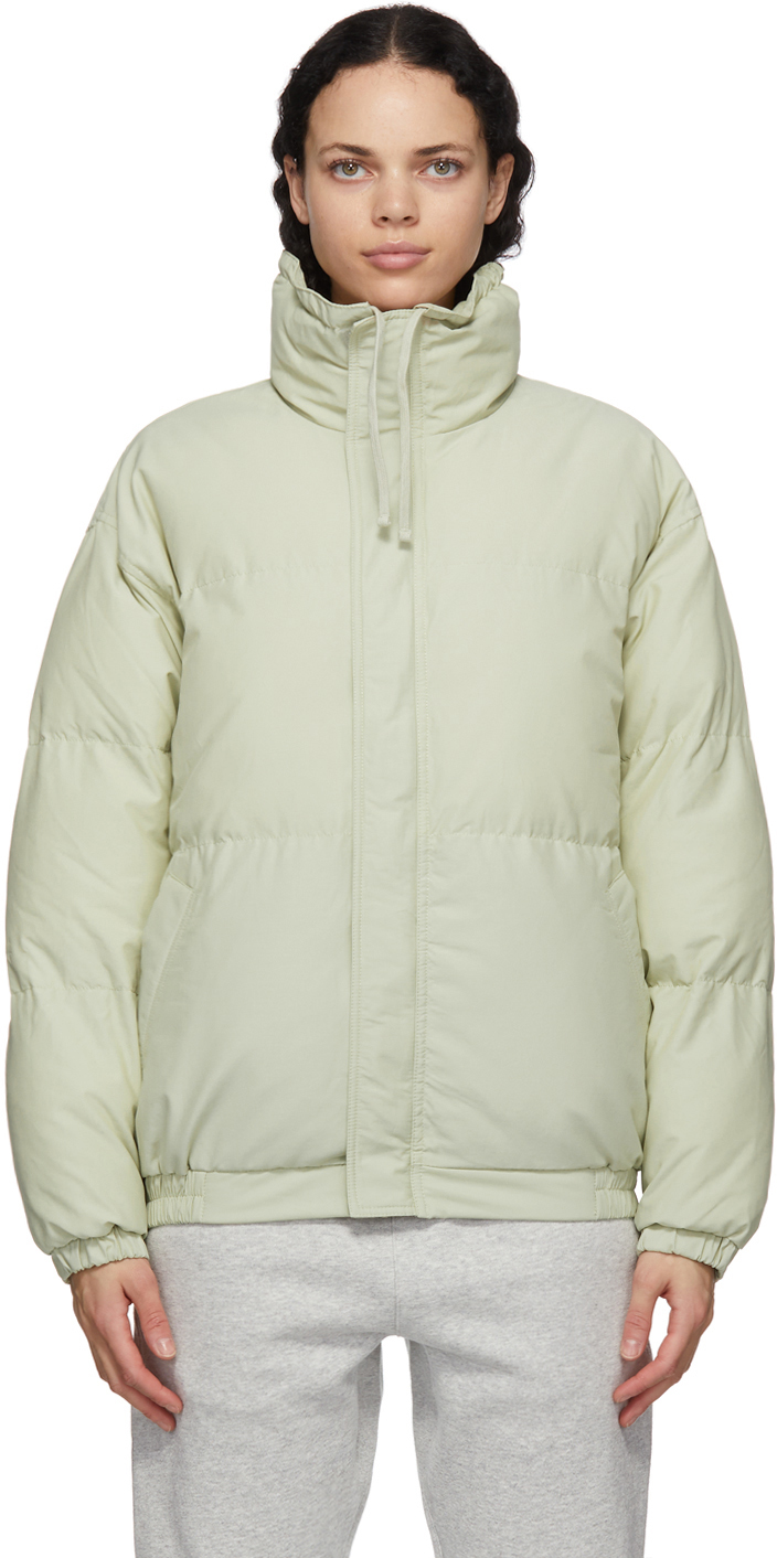 Green Nylon Puffer Jacket