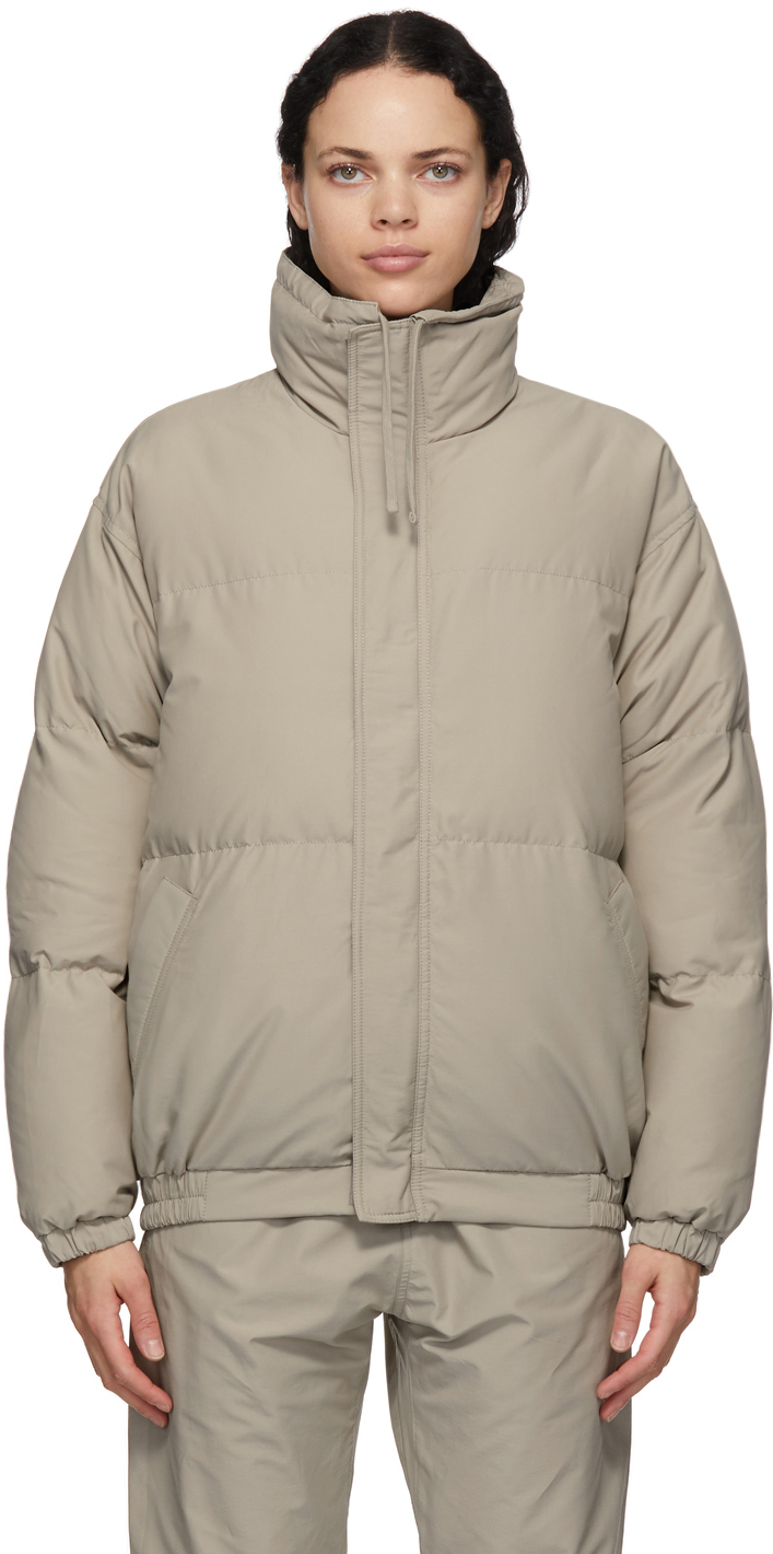 Grey Nylon Puffer Jacket