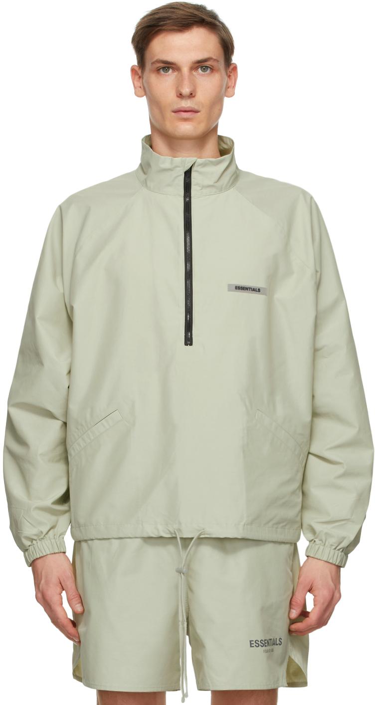 Green Half-Zip Track Jacket