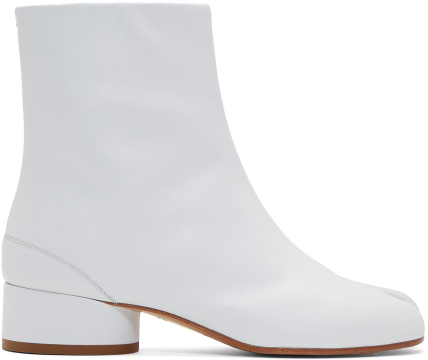 Maison Margiela: White Tabi Low Heel