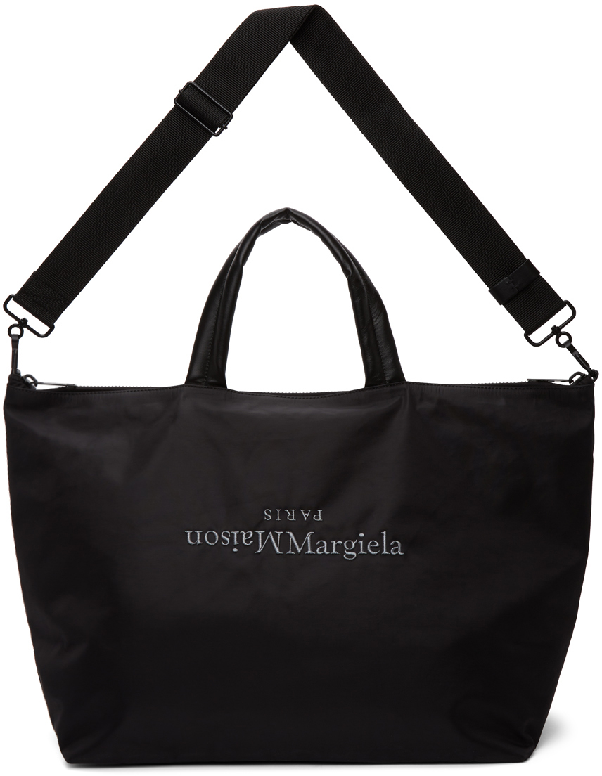 Black Embroidered Tote