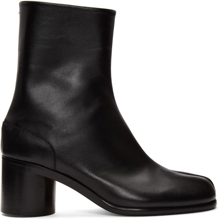 Maison Margiela: Black Tabi Boots | SSENSE