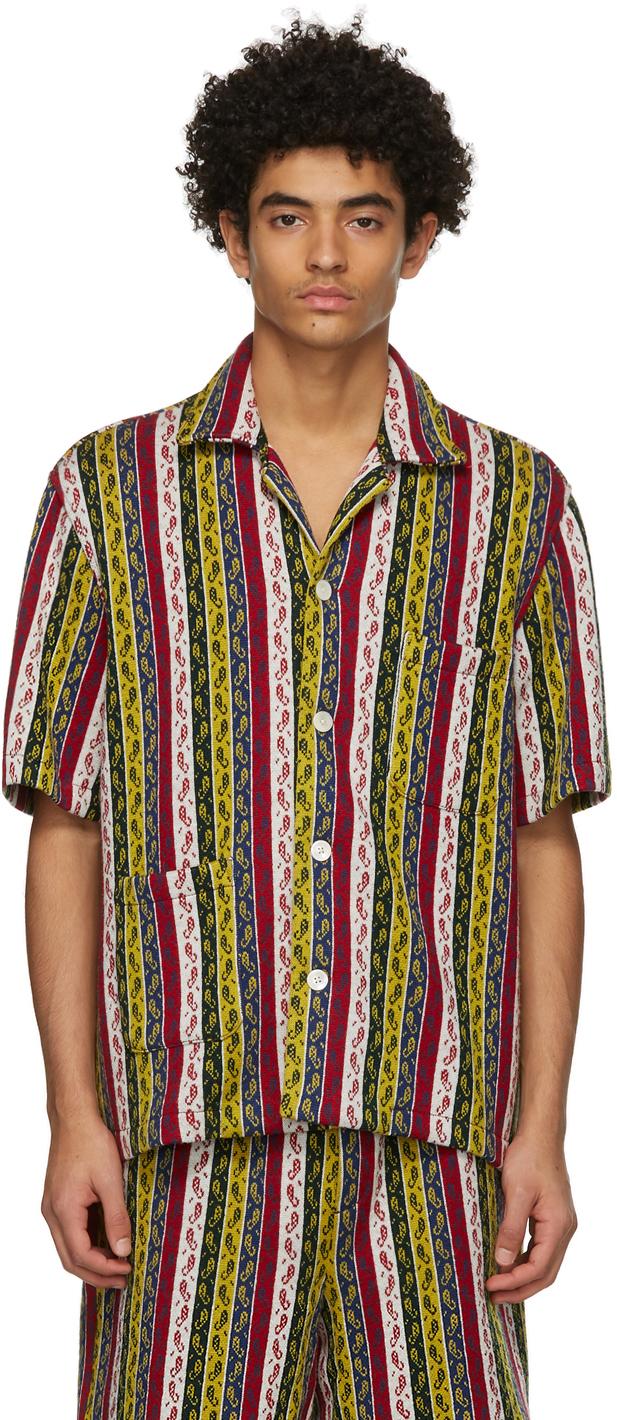 Multicolor Primary Stripe Short Sleeve Shirt