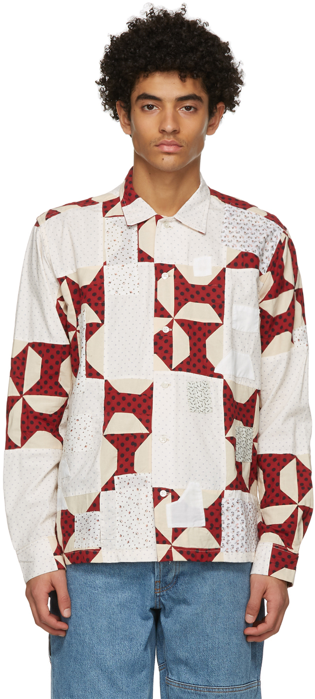 Red Bow Tie Quilt Shirt
