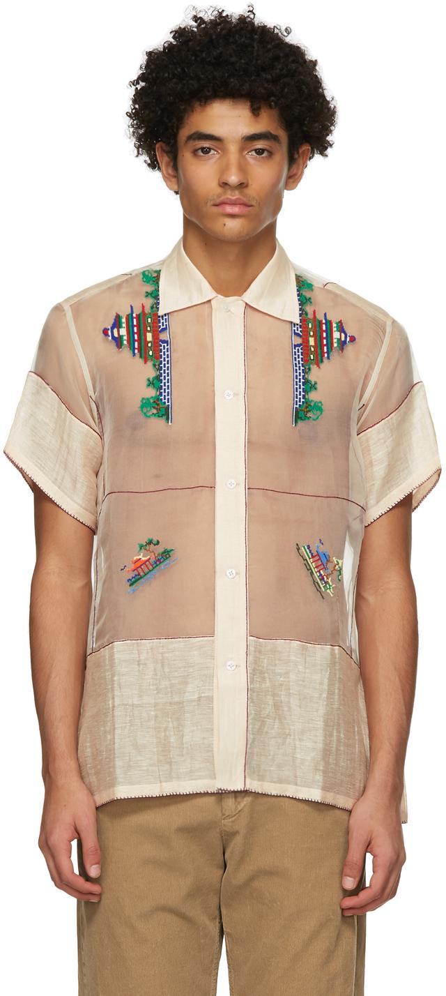 Beige Pagoda Short Sleeve Shirt