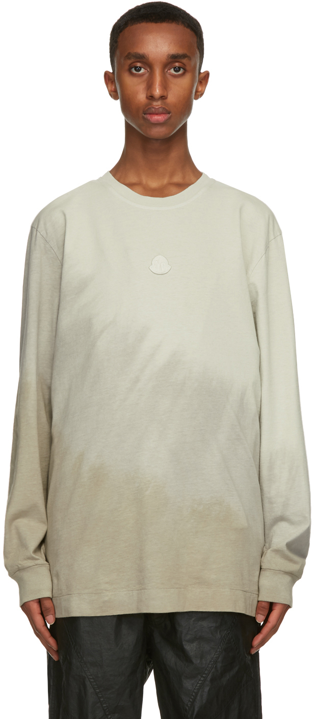 6 Moncler 1017 ALYX 9SM Taupe Jersey Long Sleeve T-Shirt