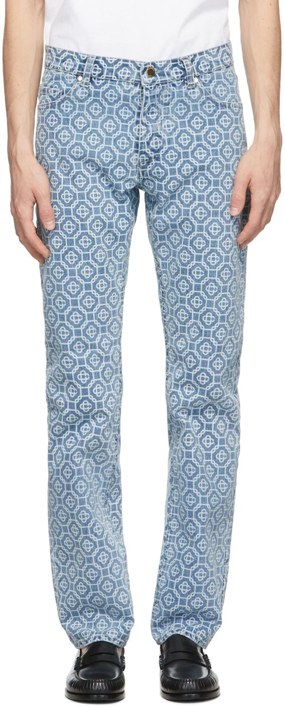 Blue Monogram Jeans