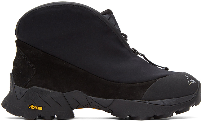 ROA 黑色 Scubo Teri 踝靴