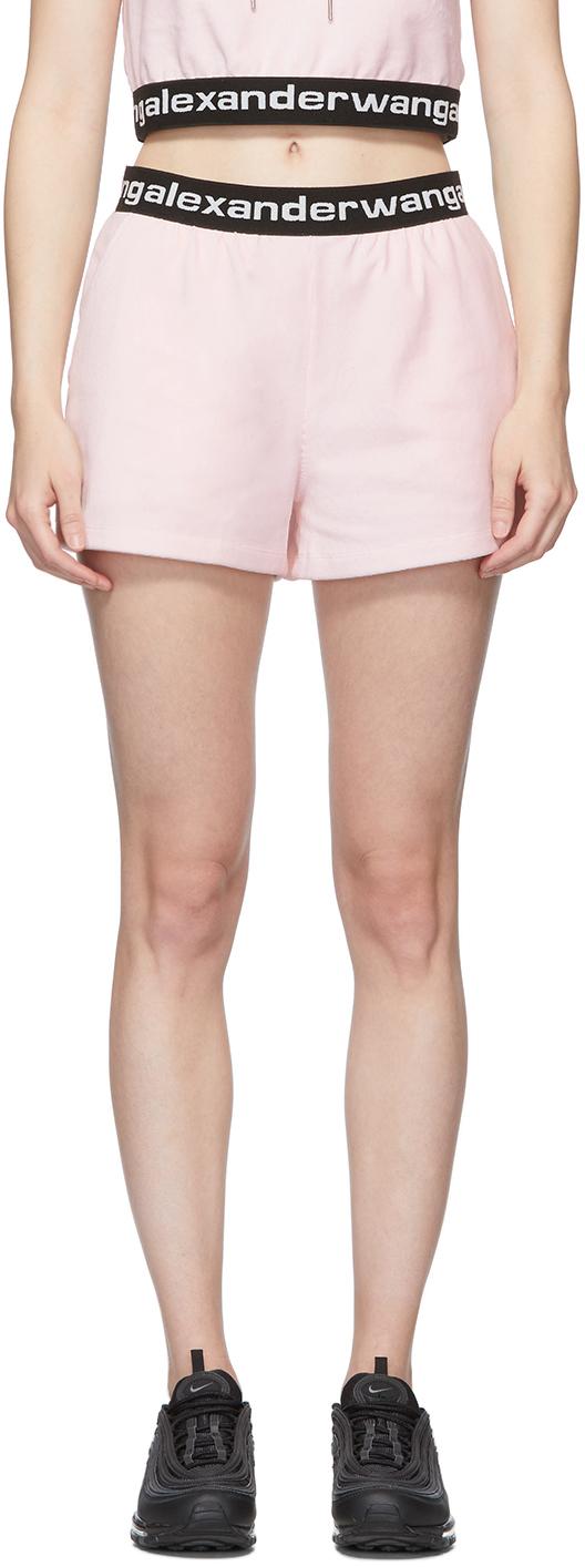 Pink Stretch Logo Shorts